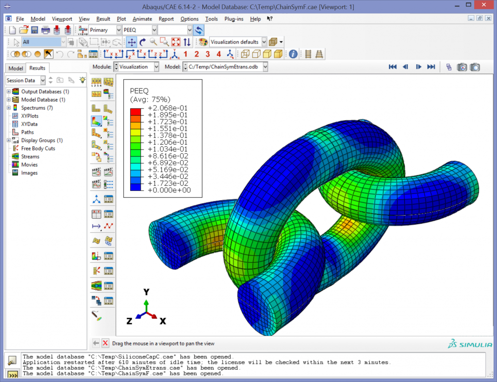 how to open a input fiole in abaqus